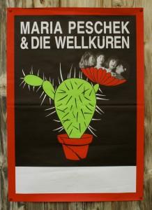 Programm-Plakat mit Maria Peschek