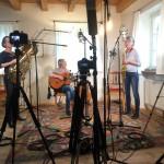 """Aufnahmen zu unserer neuen CD """"Abendlandler"""" in Monis Wohnzimmer - unserem Stubenmusi-Studio"""