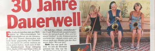 Ganzseitiges Interview in der TZ München vom 8. November 2017